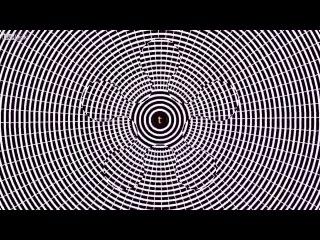 Оптическая иллюзия — смотрите в центр экрана, читайте буквы, а потом посмотрите на стену.